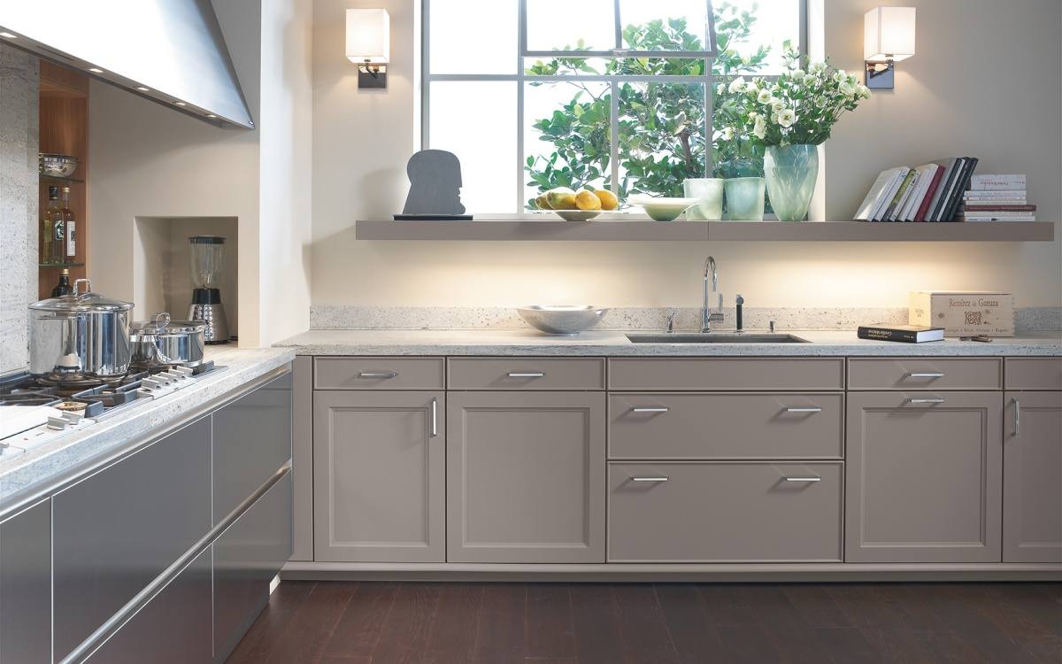 siematic kitchen beauxart collection cabinets in truffle grey