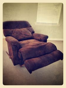 i am now at peace with the pure manliness that this chair exudes.