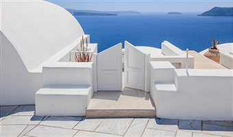 santorini white gate